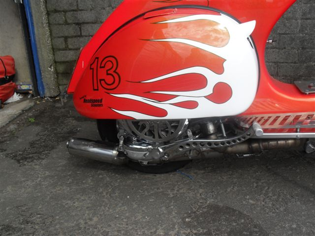 '210' stainless vespa fly cowl